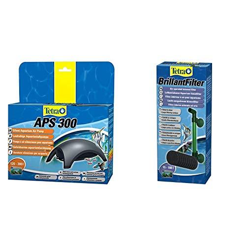 Tetra APS 50 Aquarienluftpumpe Luftpumpe Membranpumpe für Aquarien & Brillant Filter, luftbetriebener Innenfilter für Aquarien, für Aquarien von 15 bis 100 Liter, geeignet für Garnelen und Krebse