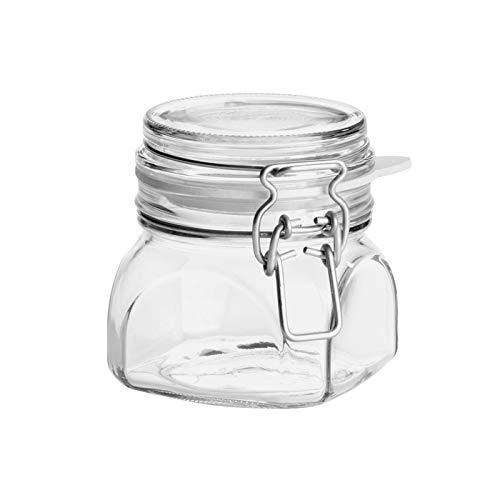 Mäser 113962 Gothika Drahtbügelglas eckig, 420 ml H 9,8 cm/L 8,6 x B 8,6 cm, klar (1 Stück)