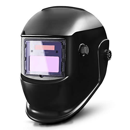 DEKOPRO Oscurecimiento automático Casco de soldadura solar ARC TIG MIG Soldadora soldadora Lente de pulido Nuevo diseño negro