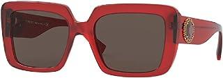 Versace VE4384B 528073 54MM Red/Dark Brown Square Sunglasses for Women + FREE Complimentary Eyewear Kit