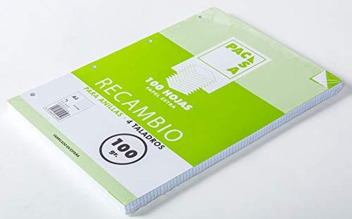Pacsa 21050 - Bloc de recambio (anillas, A4, 100 hojas)
