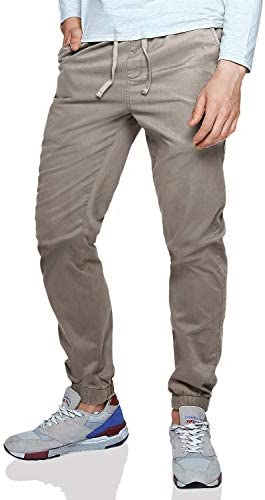 Match Men s Loose Fit Chino Washed Jogger Pant 42 6056 Khaki product image