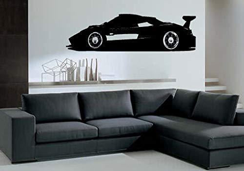 Adesivo da parete in vinile con scritta 'Pagani Zonda R Super Cars'