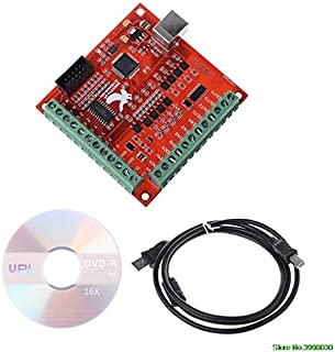HUDITOOLS Quality | Motor Controller | USB MACH3 100Khz Breakout Board 4 Axis Interface Driver Motion Controller Great Value 1 PCs