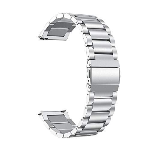 Correa Compatible con Xiaomi Huami Amazfit GTS ,riou Correa de Reloj de Pulsera de Metal de Repuesto de Acero Inoxidable Compatible con Huami Amazfit GTS Reloj Juvenil