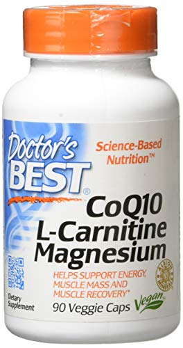Doctor's Best - Coq10 L-Carnitine Magnesium Energy &Amp; Muscle Support - 90 Vegetable Capsule(S), 1 Units