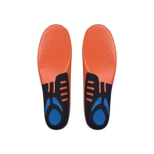 Memory Foam Insoles Orthotic Insoles Full Length Arch Supports orthotic Insole High Arch Foot Support Insert for Flat Feet Sports Insoles Comfort Cushioning Metatarsal and Heel Cushion for Plantar