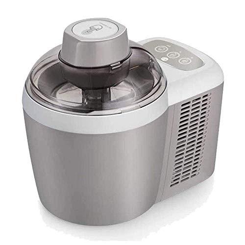 SEESEE.U Eismaschine 600ML, DIY automatische Haushaltsfrucht-Eismaschine mit Eisrezept Perfekt für die Unterhaltung von Gästen, Kinder Snacks, Silber