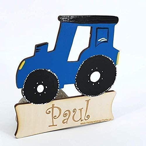 Weihnachtsgeschenk Geburtsgeschenk Geburtstagsgeschenk Kinder Holz T/ür Traktor T/ürschild mit Name Gravur oder Buchstaben