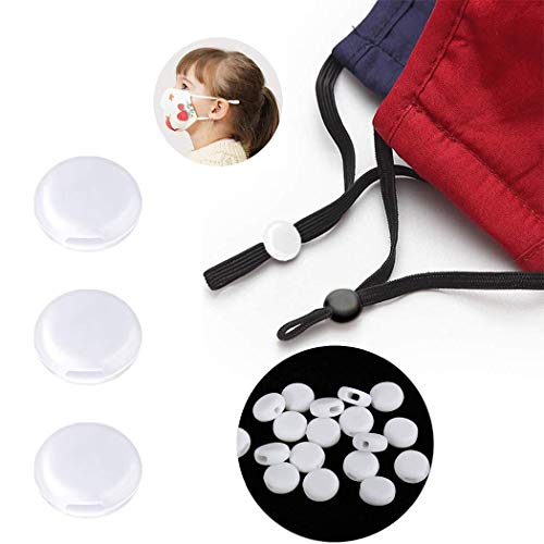 Ajustadores para cordones de mascarillas, de silicona, topes de banda elástica antideslizantes, hebilla ajustable, 100 unidades