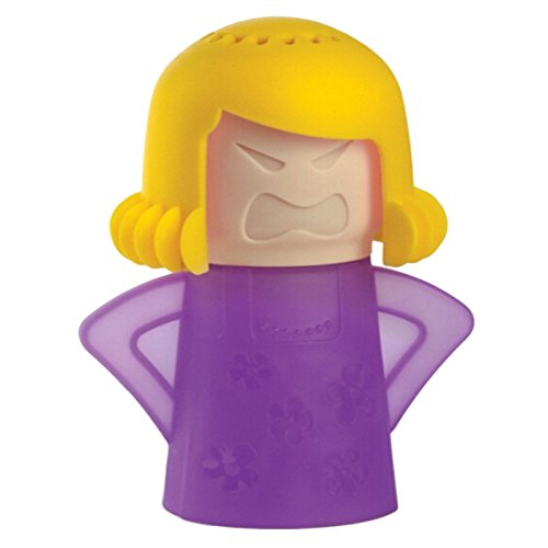 Limpiador de Vapor para hornos de microondas, YouGer Angry Mama Horno de microondas Limpiador de Vapor de acción rápida - Solo agregue vinagre y Agua (Violeta Amarillo)