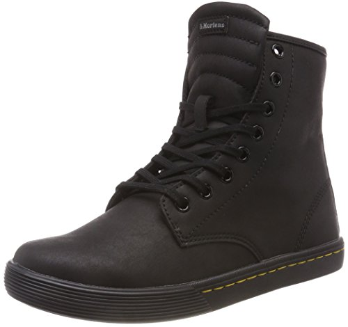 Dr. Martens Women's Lace Fashion Boot, Black Mohawk Non Woven Synthetic, 9