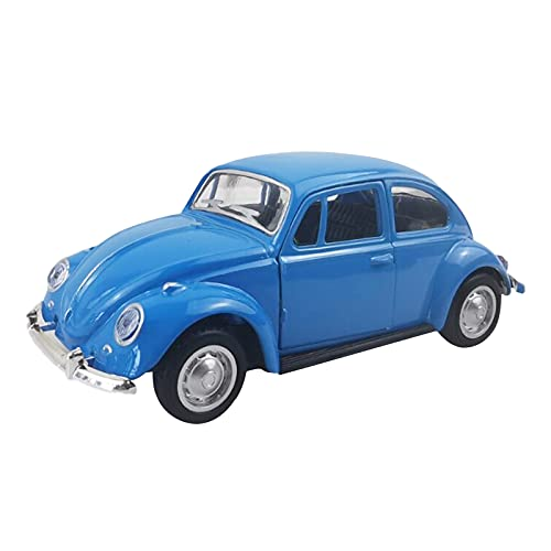 Moolecole Classic Antique Alloy Car Model Collection Kit of 66 Volkswagen Bettle 1:32 Scale, Blue