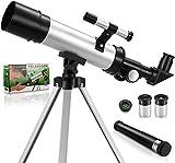 Telescopio para Niños 50 mm de Apertura y 360 mm de Distancia Focal Telescopio Astronómico Regalo Ideal para Niños de 5 a 10 Años