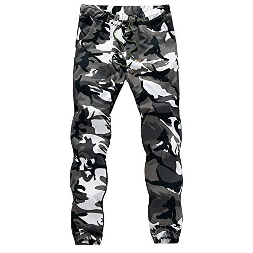 BIBOKAOKE Herren Jogginghose Camouflage Freizeithose Elastic Waist Sporthose: Trainingshose Fitnesshose Arbeitshose Sweatpants Loose Laufhose Outdoor Trekkinghose Cargohose Wanderhose