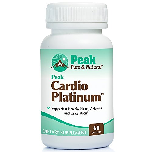 Peak Cardio Platinum by Peak Pure & Natural | Vitamin K2 as MK7 Supplement for Healthy Arteries and Circulation | Nitric Oxide and Nattokinase for Better Blood Flow (1 Bottle)