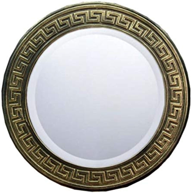 WANDSPIEGEL Bild MANDER Spiegel 3D Relief Bronze Effekt 46cm Durchmesser EINMALIG Handbemalt Spiegel ca. 35cm Durchmesser LAUFENDER Hund