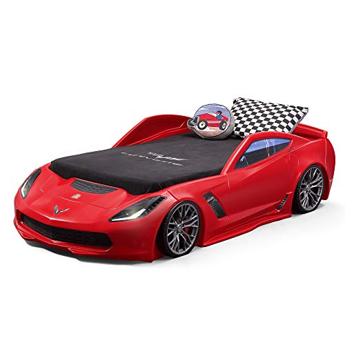 Step2 Corvette Z06 Toddler Bed to Twin Bed, Red
