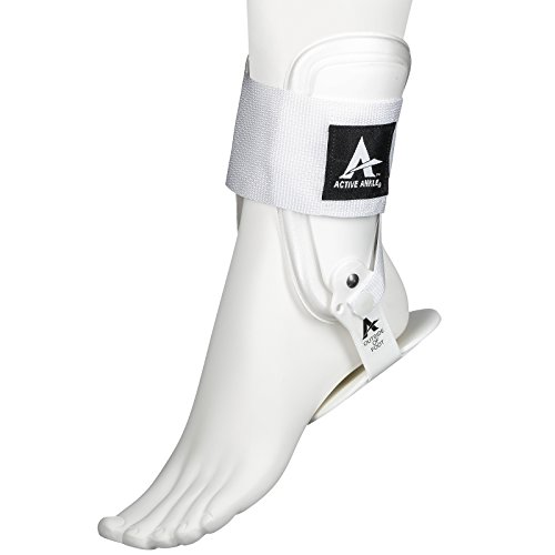 Active Ankle T2 Ankle Brace, Rigid Ankle Stabilizer for Protection & Sprain Support for Volleyball, Cheerleading, Ankle Braces to Wear Over Compression Socks or Sleeves for Stability, White