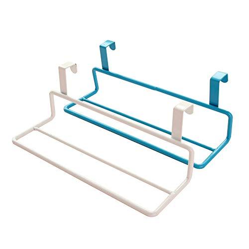 anruo 2 stuks handdoekenrek opknoping dubbele paal deur terug ijzeren kast organisator kast