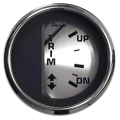 Faria 16016 Spun Silver Trim Gauge (Mercury/Mariner/Mercruiser/Volvo DP/Yamaha 2001 und neuer) – 5,1 cm
