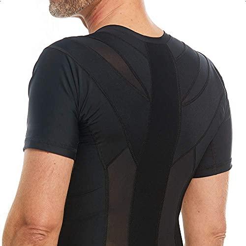 Anodyne Posture Shirt 2.0 - Hommes | Correcteur De Posture Du Dos & Épaules | Posture Corrector Tee Shirt | Réduit la douleur et la tension | Testé et approuvé médicalement |