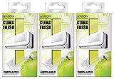 Areon Clima Fresh Lufterfrischer Apfel grün Haus Klimaanlage Geruchsneutral Original Zuhause Wohnzimmer Büro Geschäft (Green Apple Pack 3 Stück)