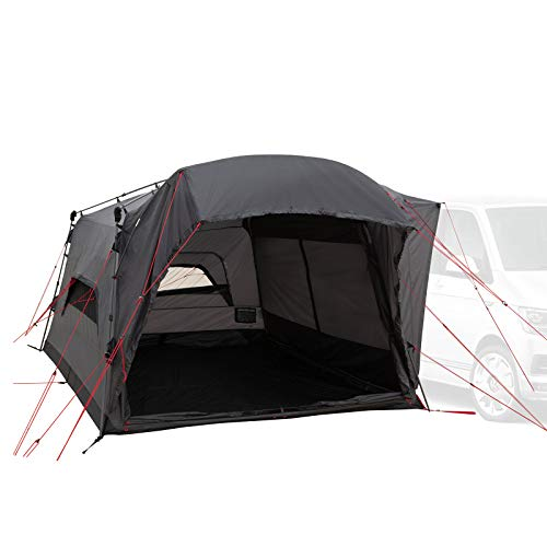 Qeedo Quick Motor Free Pro Busvorzelt (freistehend) mit Quick-Up-System - Heckzelt, Vorzelt für Campingmobil, Camper