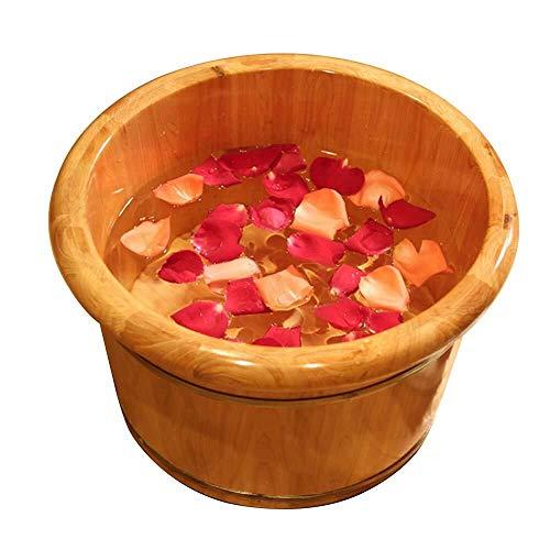 LJBXDCZ NJ vrijstaande badkuip pedicure hout natuur vat voetbad massage roken vat schuim 3.7 Houtkleur.