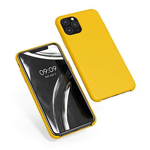 kwmobile Cover Compatibile con Apple iPhone 11 PRO - Custodia in Silicone TPU - Back Case Protezione Cellulare Giallo Zafferano