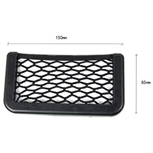 axuanyasi Car Trunk Storage Net, 2 Pack (15 cm/5.70in X 8 cm/3.14in) Black Magic selbstklebend Ablagenetz Elastic String Netz Mesh-Tasche für Handy Geldbörse Schlüssel Kleine Dinge
