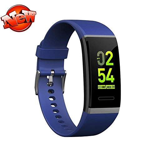 Android Smart Watch,Fitness Tracker with Touch Screen Best Fitness Wrist Band Pedometer Smartband Sleep Monitor Watch for Christmas Xmas Gifts-Blue