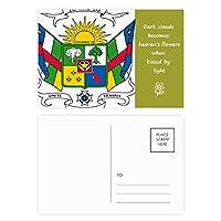 中部アフリカの国の国家エンブレム 詩のポストカードセットサンクスカード郵送側20個