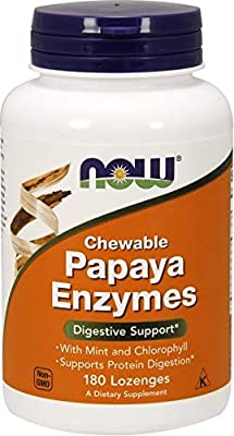 NOW Foods Papaya Enzyme Chewable 180 Lozenges - New by NOW FOODS