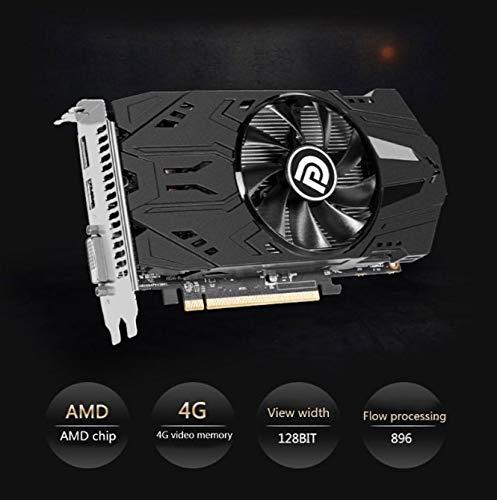 TOHHOT Electrónica 4GB RX560 4G DDR5 Tarjetas gráficas para Juegos de sobremesa Tarjeta de Video Tarjeta gráfica Independiente para Juegos HD