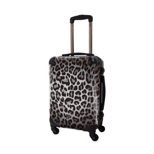 [キャラート] アート スーツケース ベーシック 豹 フレーム4輪 機内持込 S 機内持込可 保証付 31L 57cm 3.2kg CRA01H-003B シルバー シルバー