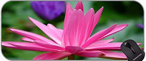 Mariposa Hermosa Flor de Lotus Flower Desk Full XXL Extended Gaming Mouse Pad, Lotus Mousepad XXL para el Juego