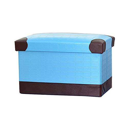 XINTU 1 taburete plegable de almacenamiento de cuero taburete de almacenamiento plegable