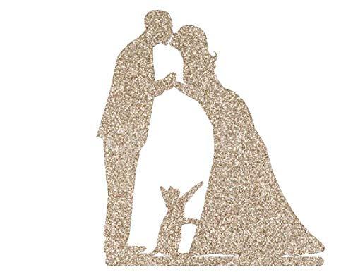 Decoración para tarta de boda con gato, novia y novio con mascota, decoración personalizada para tartas, decoración de boda, decoración de tartas, mesa de boda