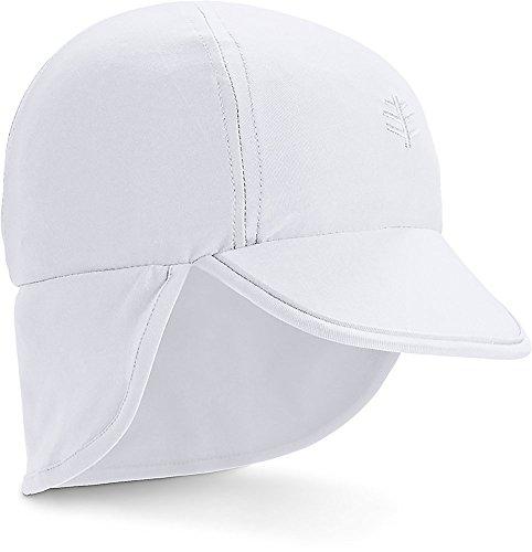 Coolibar UPF 50+ Baby Splashy All Sport Hat - Sun Protective (6-12 Months- White)