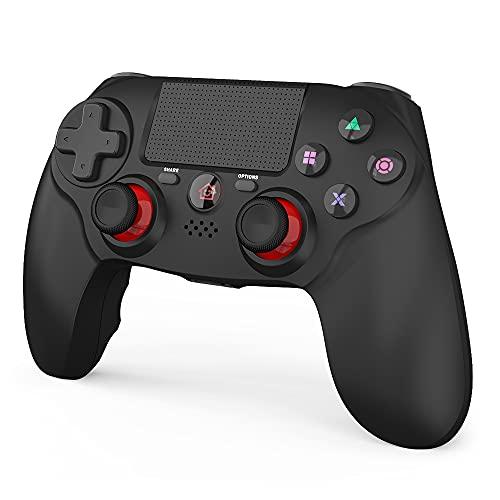 「2021 FPS改良」JOYSKY PS4 コントローラー ワイヤレス 最新バージョン Bluetooth リンク遅延なし 600mAh ジャイロセンサー機能 イヤホンジャック ゲームパット 搭載 高耐久ボタン 二重振動 日本語取扱説明書 PS3 コントローラー(黒い)