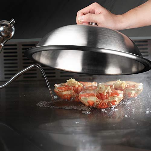 41VQeRYg9GL. SL500  - HOMENOTE Grillzubehör-Set, 30,5 cm große, robuste runde Grillabdeckung/Käseschmelzhaube mit Burger-Speckpresse aus Gusseisen, perfekt für flache Grillroste, Braten drinnen und draußen