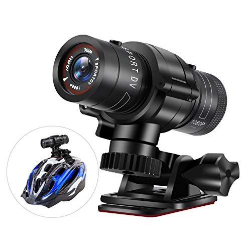 Bicycle Helmet Cameras, HD 1080p Sports Action Camera, Motorcycle Video DV Camcorder, Car Video Recorder, Mountain Mini Action DVR Video Cam, Waterproof Bike Car Recorder for Outdoor Wilderness