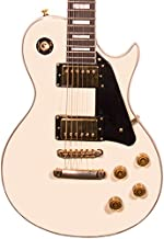 Sawtooth Heritage Series Maple Top Electric Guitar, Antique White