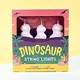 Fizz Creations - Cadena de luces LED que cambian de color, funciona con pilas, diseño de dinosaurio