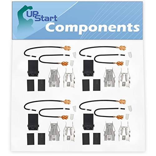 4-Pack 330031 Top Burner Receptacle Kit Replacement for Whirlpool Range/Cooktop/Oven - Compatible with Part Number R300, TS300, 3374, 5303935058, WB17X210, 42147, 42153, AP3075808, W10841094, 550226