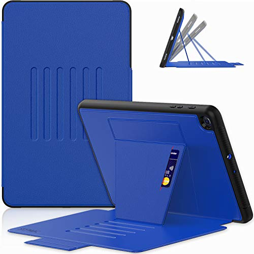"""SEYMAC Galaxy Tab A 10.1 Cover 2019, SM-T510/SM-T515 Cover, Dropproof Slim Sturdy Case with [6-Angle Strong Magnetic Kickstand], Card Slot for Tab A 10.1"""" 2019 - Blue"""