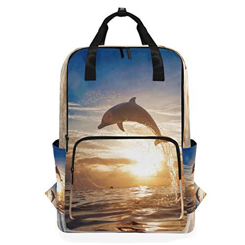 ALARGE - Mochila para portátil, diseño de delfín