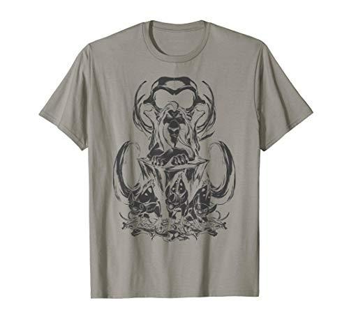 Disney Lion King Scar and Hyenas In Skull Graveyard T-Shirt