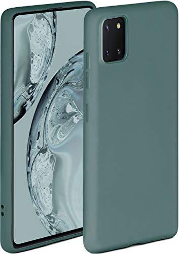 ONEFLOW Soft Hülle kompatibel mit Samsung Galaxy Note10 Lite Hülle aus Silikon, erhöhte Kante für Displayschutz, zweilagig, weiche Handyhülle - matt Petrol